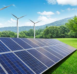 solaranlage windräder in der natur