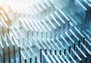 aluminiumprofil in der reihe