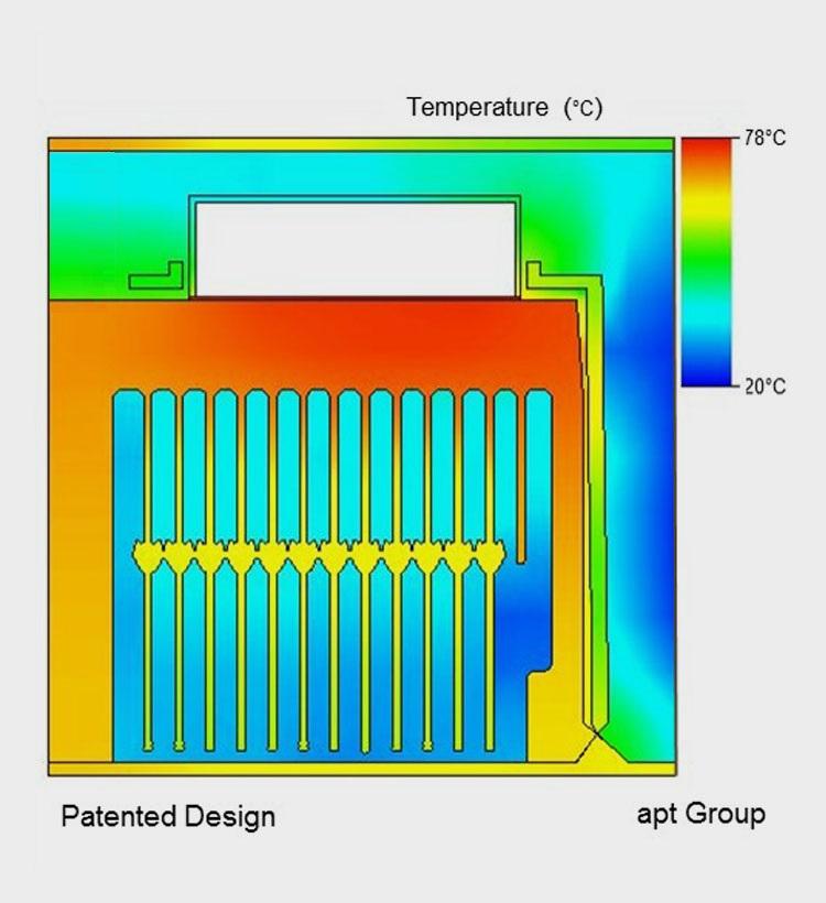 bunte grafik entwicklung aluminiumteile