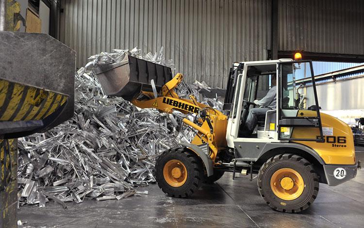 bagger aluminium schrott