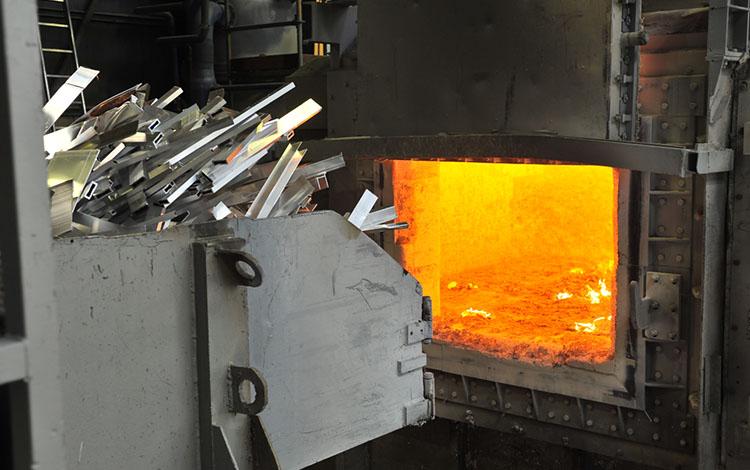 aluminiumschrott vor ofen