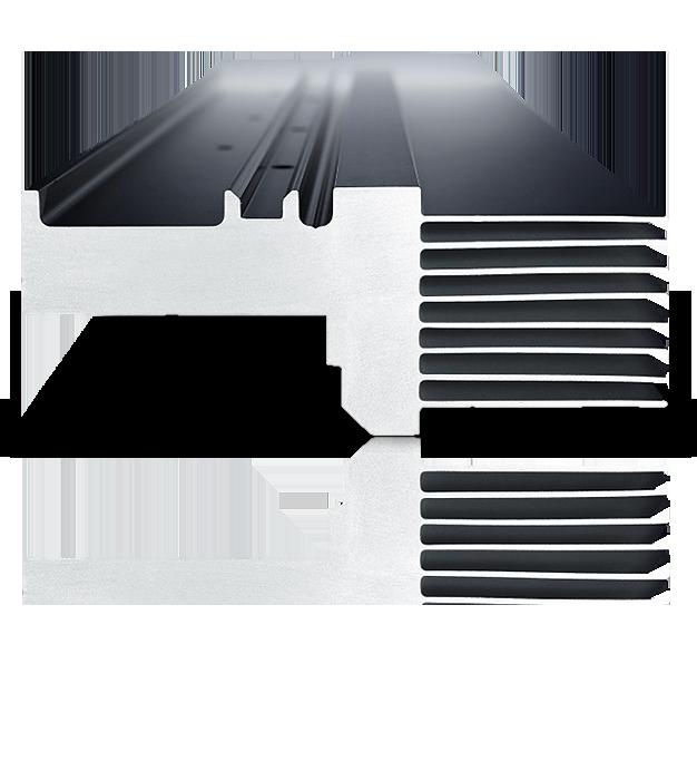 nahaufnahme aluminiumprofil