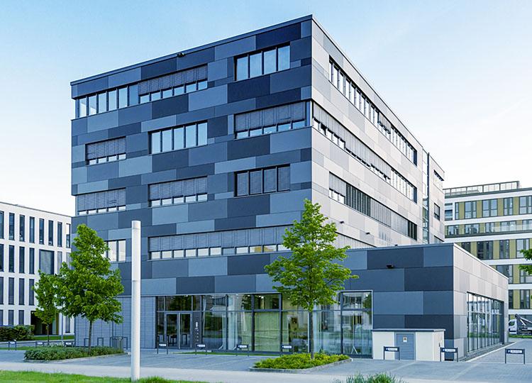Modernes Unternehmens Gebäude grau